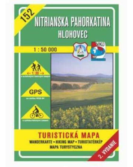 Cartographia  - HM152 Nyitra menti dombság, Galgóc turistatérkép