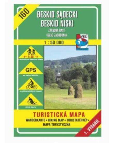 Cartographia  - HM160 Szandeci-Beszkdiek; Alacsony-Beszkidek, nyugati rész turistatérkép