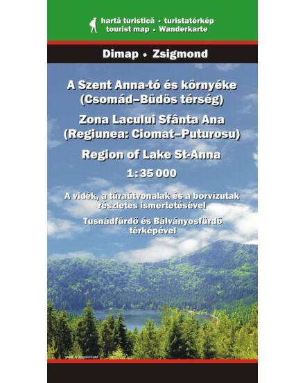 Cartographia  - Szent Anna-tó és környéke turistatérkép