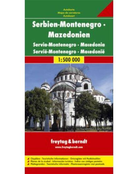 Cartographia  - Szerbia-Montenegró-Macedónia térkép