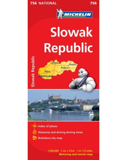 Cartographia  - Szlovák Köztársaság térkép 756 - Michelin
