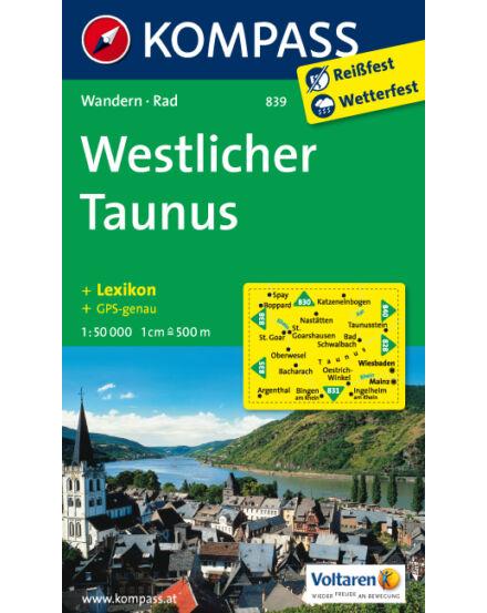 Cartographia  - Nyugat Taunus turistatérkép