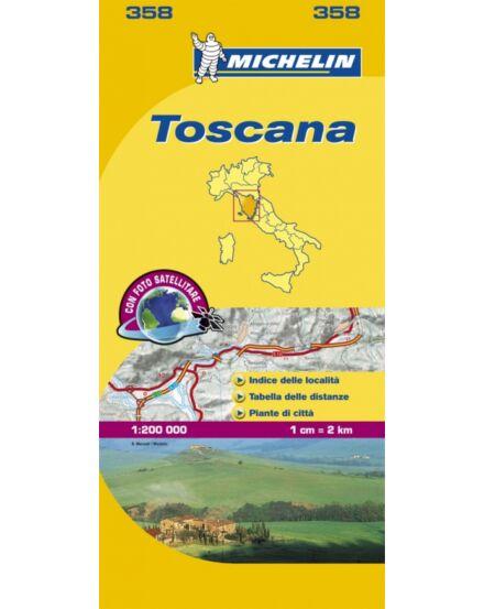 Cartographia  - Toszkána térkép 358 Michelin