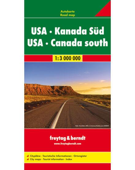 Cartographia  - USA és Dél-Kanada térkép