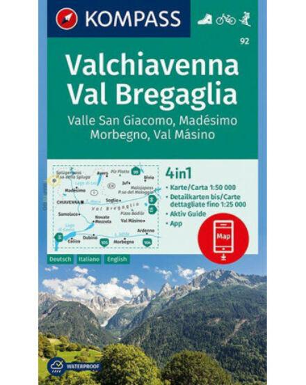 Cartographia  - Valchiavenna - Val Bregaglia - Valle San Giacomo - Madésimo - Morbegno - Val Másino turistatérkép