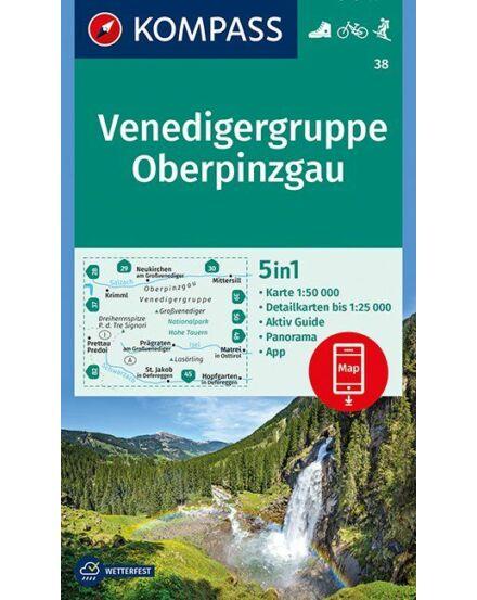 Cartographia  - K 38 Venedigergruppe turistatérkép