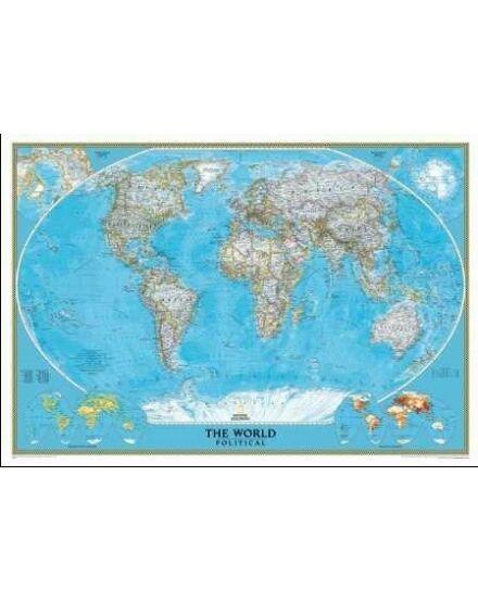 Cartographia  - Világ országai falitérkép - keretes