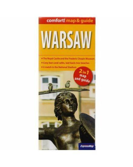 Cartographia  - Varsó (map&guide) laminált térkép