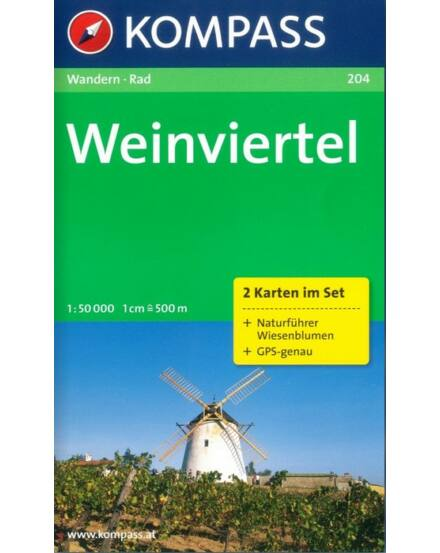 Cartographia  - K 204 Weinviertel turistatérkép