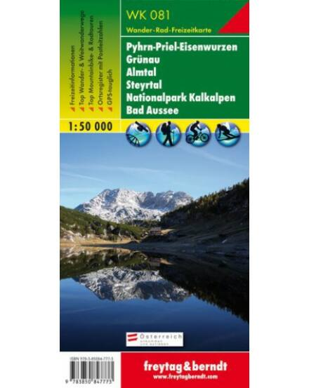 Cartographia  - WK081 Pyhrn-Priel-Eisenwurzen-Grünau-Almtal-Steyrtal-Sengengebirge turistatérkép