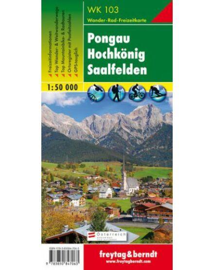 Cartographia  - WK103 Pangau-Hochkönig-Saalfelden turistatérkép