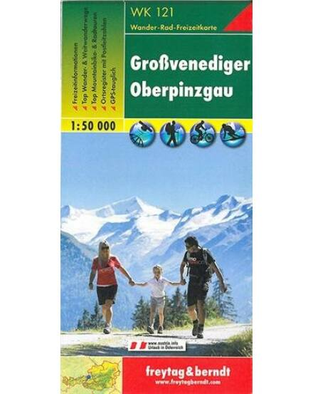 Cartographia  - WK121 Grossvenediger-Oberpinzgau turistatérkép