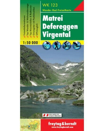 Cartographia  - WK123 Matrei-Virgental turistatérkép