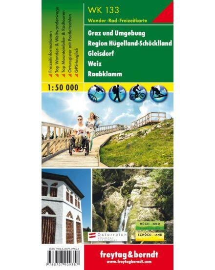 Cartographia  - WK133 Graz és környéke-Hügelland-Schöcklland-Gleisdorf-Weiz-Raabklamm turistatérkép
