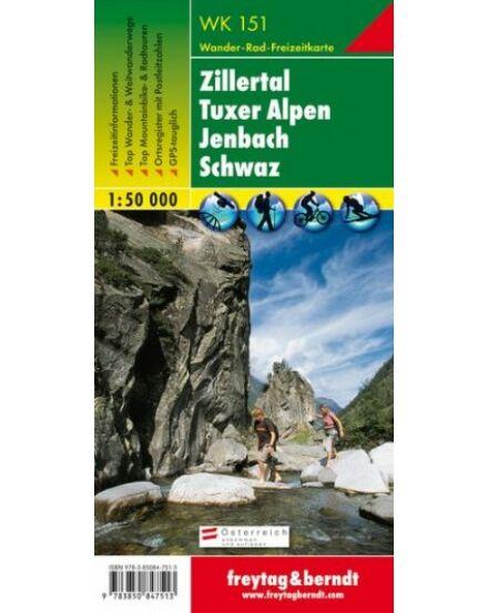 Cartographia  - WK151 Zillertal-Tuxer Alpen-Jenbach-Schwaz turistatérkép