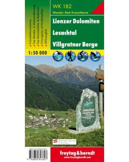 Cartographia  - WK182 Lienzer Dolomiten-Lesachtal-Villgratner Berge turistatérkép