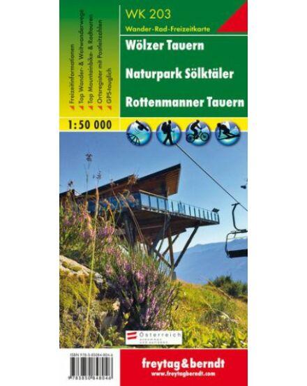 Cartographia  - WK203 Wölzer Tauern-Naturpark Sölktäler-Rottenmanner Tauern turistatérkép