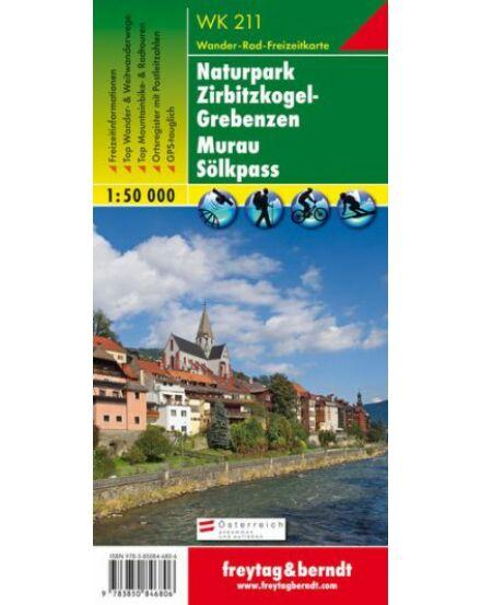 Cartographia  - WK211 Naturpark Zirbitzkogel-Grebenzen–Murau–Sölkpass turistatérkép
