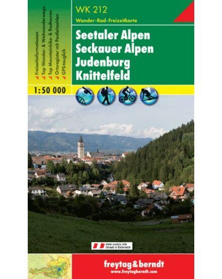 Cartographia  - WK212 Seetaler Alpen-Seckauer Alpen-Judenburg-Knittelfeld turistatérkép