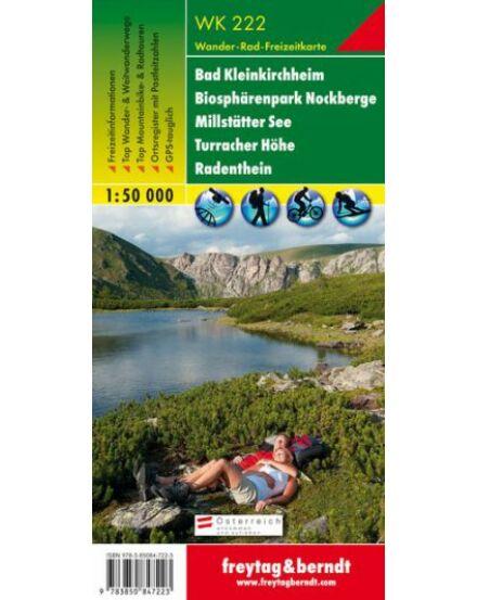 Cartographia  - WK222 Bad Kleinkirchheim-Biospharenpark Nockberge-Millstatter See-Turracher Höhe-Radenthein turistatérkép