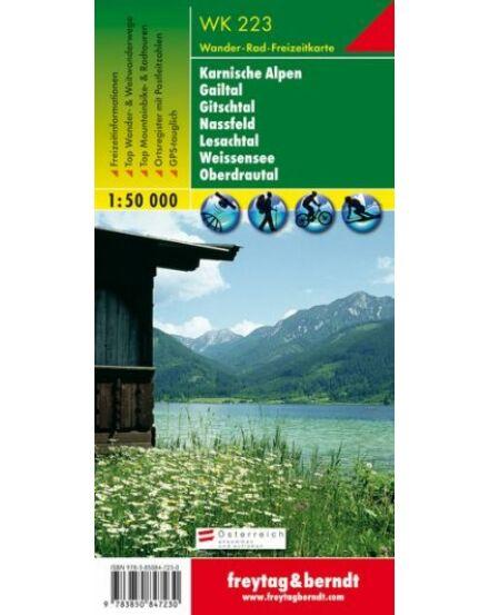 Cartographia  - WK223 Karnische Alpok-Gailtal-Gitschtal-Nassfeld-Lesachtal-Weisensee-Oberdrautal turistatérkép