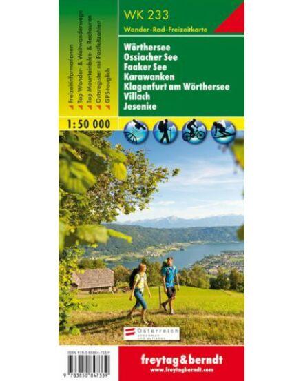Cartographia  - WK233 Wörthersee-Ossiacher See-Faaker See-Karawanken-Klagenfurt am Wörthersee-Villach-Jesenice turistatérkép