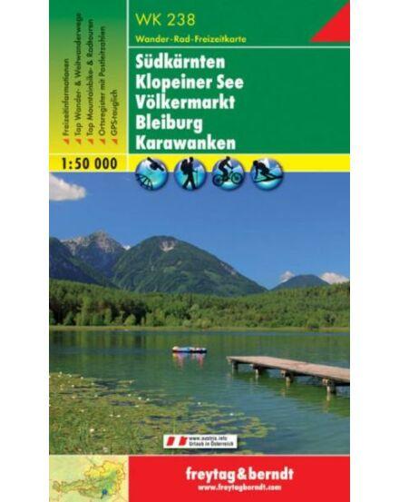 Cartographia  - WK238 Südkarnten-Klopeiner See-Völkermarkt-Bleiburg-Karawanken turistatérkép