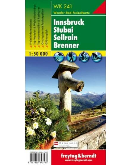 Cartographia  - WK241 Innsbruck-Stubai-Sellrain-Brenner turistatérkép