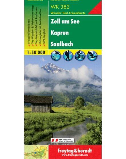 Cartographia  - WK382 Zell am See-Kaprun-Saalbach turistatérkép