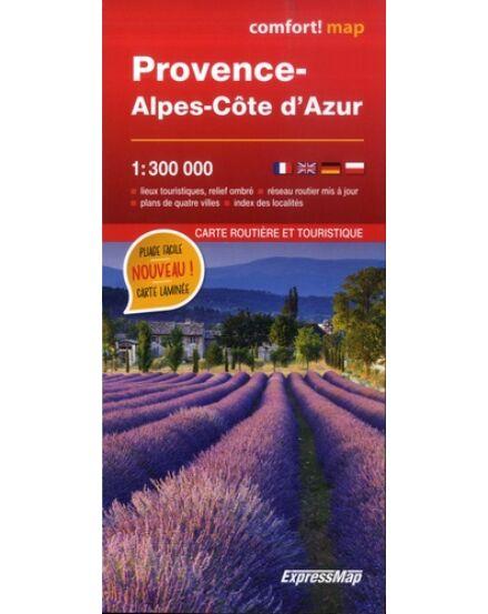 Provance, Alpok-Cote D'Azur laminált térkép