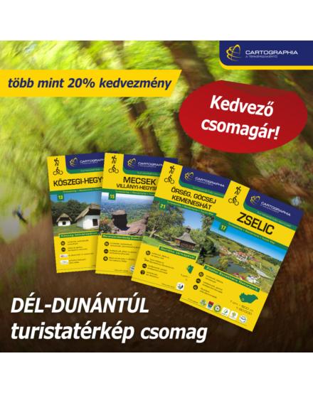 DÉL-DUNÁNTÚL turistatérkép csomag: 4 db Cartographia turistatérkép több mint 20% KEDVEZMÉNNYEL