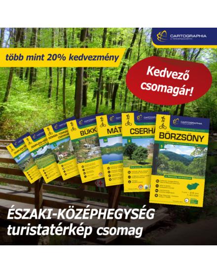 ÉSZAKI-KÖZÉPHEGYSÉG turistatérkép csomag: 7 db Cartographia turistatérkép több mint 20% KEDVEZMÉNNYEL
