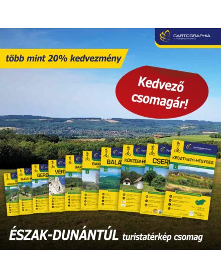 ÉSZAK-DUNÁNTÚL turistatérkép csomag: 10 db Cartographia turistatérkép több mint 20% KEDVEZMÉNNYEL