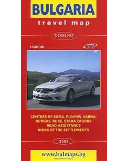 Bulgária autótérkép 1:540 000 (angol)