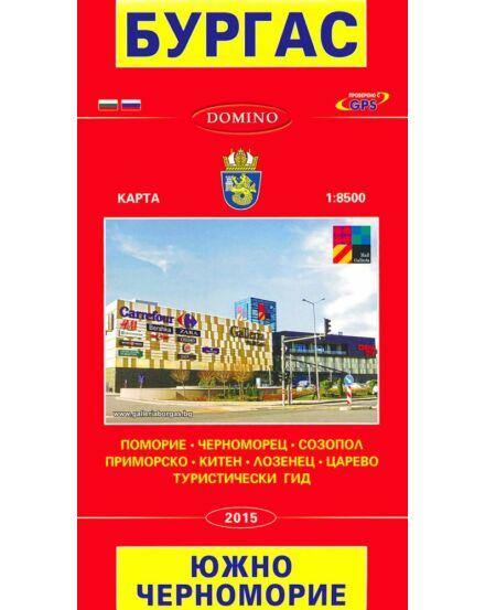 Burgas, Fekete-tenger parti városok térkép 1:8 500