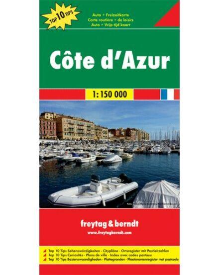 Cote d' Azur térkép