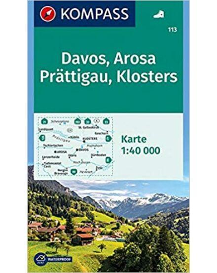 Cartographia  - K 113 Davos, Arosa, Prattigau, Klosters turistatérkép