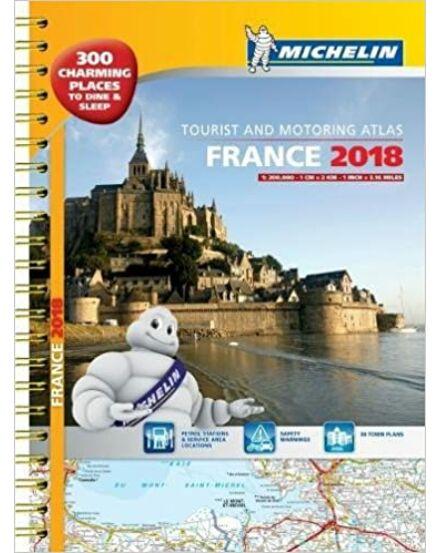 Franciaország atlasz A3 spirál 1098 Michelin 2018 (Outlet)