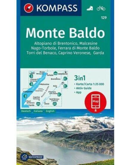 Monte Baldo turistatérkép KOMP 129