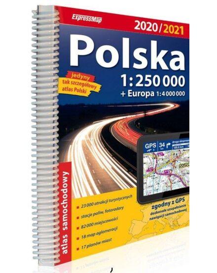 Lengyelország atlasz 1:250 000 2020/2021
