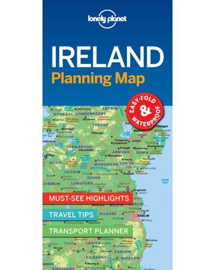 Írország laminált térkép Lonely Planet