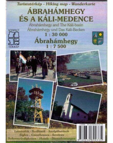 9789630890335 Ábrahámhegy és a Káli-medence turistatérkép Cartographia