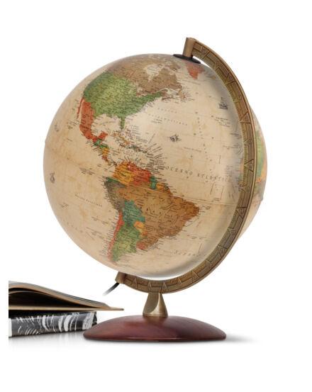 Cartographia  - ANTIQUUS földgömb - világító, antik, angol nyelvű
