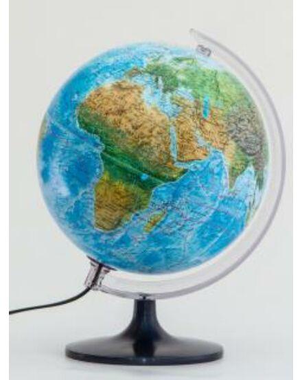Cartographia-Földgömb 25 cm - duó, világító,  növényzet színezett műanyagtalpas