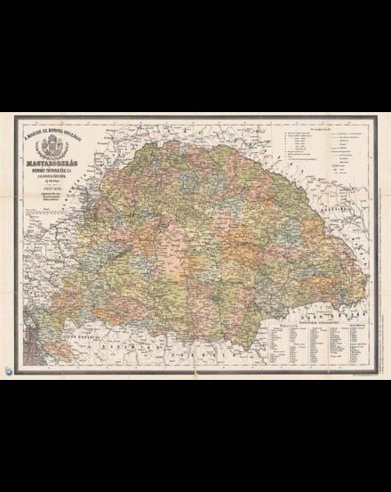 Antik Magyaro 1876-Magyaro járásai_Cartographia