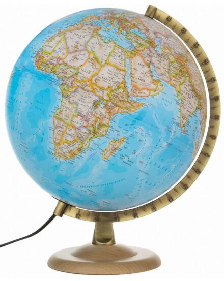 Cartographia  - Földgömb - világító, politikai, 30 cm átmérőjű, fatalpas