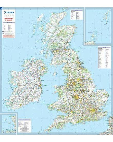 Nagy-Britannia, Írország fóliás falitérkép_Cartographia