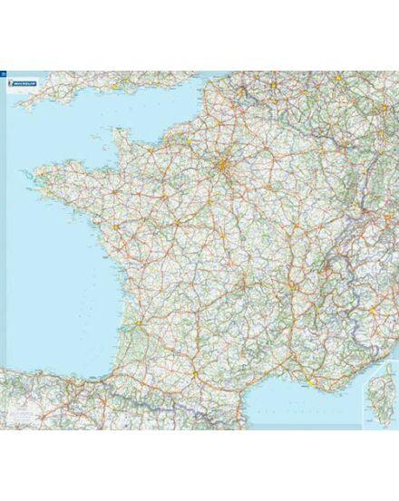 Franciaország falitérkép