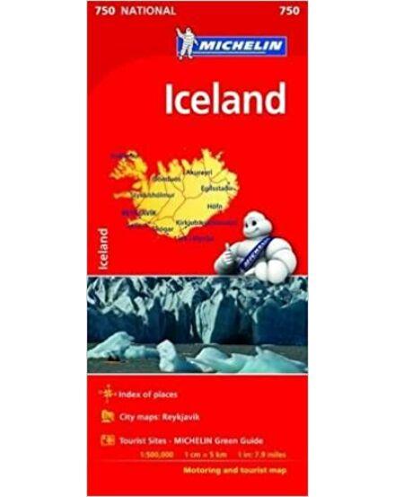 Izland térkép (Michelin)