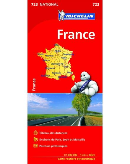 Franciaország Main Roads_Cartographia